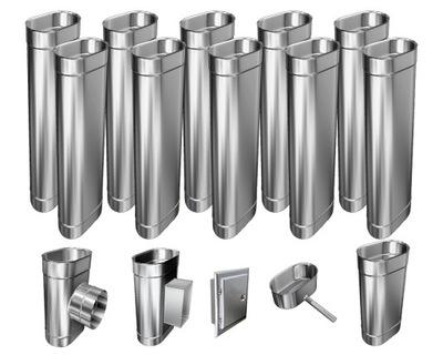 Kotol - 1mm CHIMNEY INSERT 12m 130x250 Tepelne odolný HIT