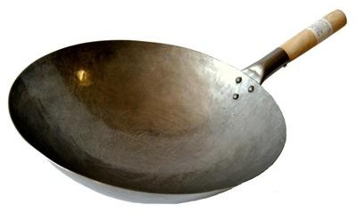 Panvica Wok 15 Palcov 38 cm Ručne Kované Čínskej