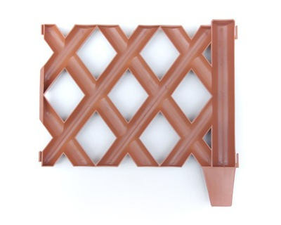 Tieniacia clona na plot - Ogrodek MISLIWSKI plast TERAKOTA Rabatowy 3,6m