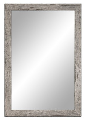 Zrkadlo ošumelé 87x57 cm, biela, šedá, bronz
