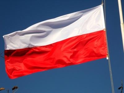 Флаг  польский  90 x ??? instagram см на Мачту д