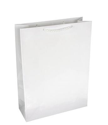 d2bd3acf7fa19 Torebki papierowe BIAŁE na prezenty na upominki A5 5170633384 ...