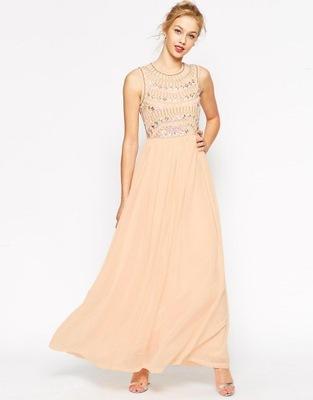 be527d444e6c66 ASOS sukienka MAXI różowa WĘZEŁ róż XS 34 6 - 5948489746 - oficjalne ...