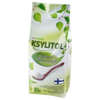 Ксилит сахар березовый сумочка 1 кг Сантини