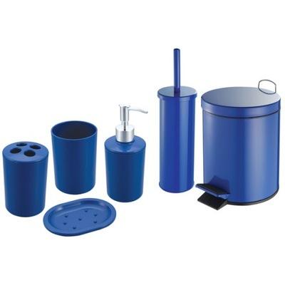 Kosz 5l zes. łazienkowy 6 e-szczotka wc Niebieski