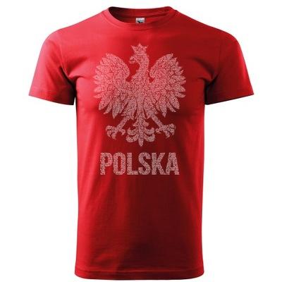 Koszulka męska ORZEŁ Z HYMNEM POLSKI XS - 5XL
