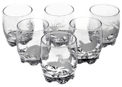 Krásne zdobené poháre lov whisky 250 ml