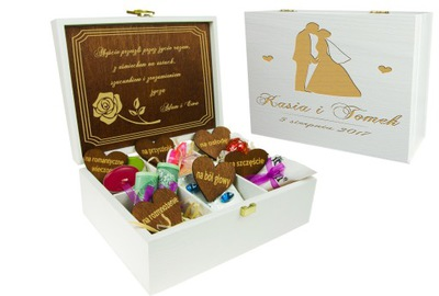 коробка коробка свадьба С РАЗДЕЛИТЕЛЯМИ гравер