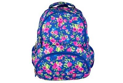 Školká taška, batoh, ruksak - ST.RIGHT ŠKOLA BATOHY KVETY ROSE Kvety BP-07