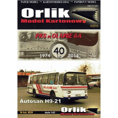 Малый Шкаф No Модели: A024 - Автобус Autosan H9-21 1 :43