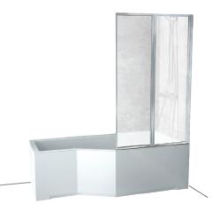 Sprchové dvere - Kúpacia obrazovka 80/140 2-krídlová Ambition Besco