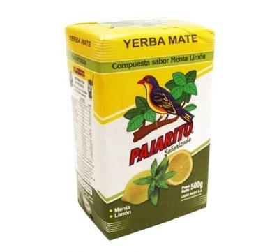 Yerba Mate Pajarito с запахом лимона с мятой Ноль .5кг 500 г