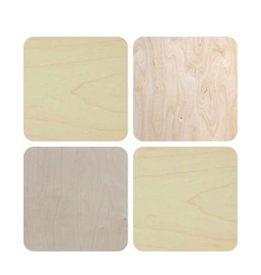 подкладка деревянная квадрат 10см 4шт