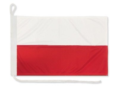 Flaga POLSKI Bandera Jachtowa 40x27 POLSKA jacht