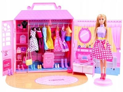 Bábika + dom SKRINI, topánky skrine