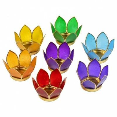 Súbor Lotus, 7 Lampy, 7 farba čakry zlato