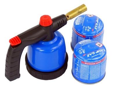сварка Факел для пайка газовая +2 картриджи JOBI
