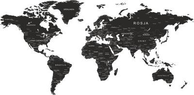 наклейки instagram на стену карта мира имени 200см