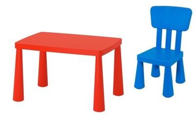Икеа комплект МАММУТ 1x стульчик + столик ЦВЕТА