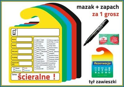 ZAWIESZKI KOMISOWE SCIERALNE25 PIEZAS +MAZAK+ZAPACH