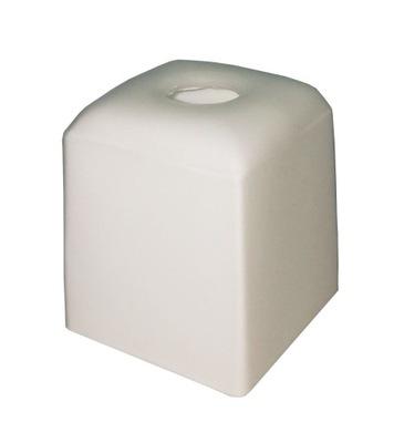 Абажур стеклянный E14 кубик 9x9cm белая для люстры