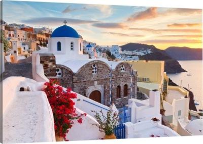 OBRAZ NA PŁÓTNIE SANTORINI grecja 100x70 wybór