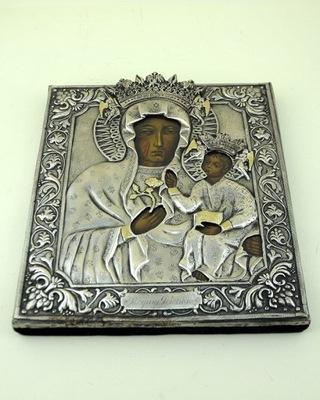 Икона Матерь Божья Королева  - посеребренная