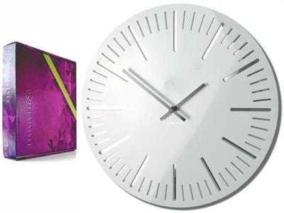 Большой современный часы настенный TRIM pure white