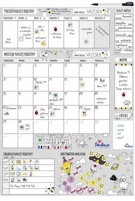 Planer Kalendarz ścieralny na ścianę lub szafkę