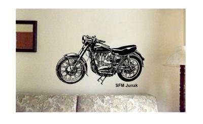 наклейка Стены SFM ЮНОША мотоцикл 100x60№.30