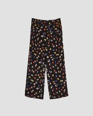 e07a2a64 ZARA spodnie w kwiaty 42 XL nowe!!