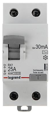 LEGRAND RX3 Выключатель RÓŻNICOWOPRĄDOWY 2P 25A 30mA