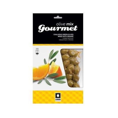 Зеленые оливки Халкидики с апельсином 250г