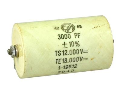 Kondensator wysokiego napięcia 12kV 3000pF olejowy