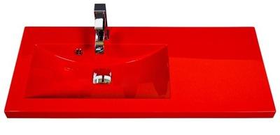 Umývadlo Umývadlo s pracovnou doskou 90x39cm Clever-900L červená