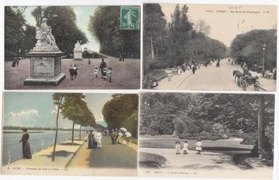 Stare pocztówki ALEJA PROMENADA PARK (4 szt.) 4P03