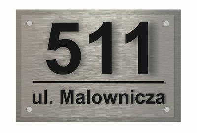 Доска адресная Алюминий 3D Табличка Номер Дома