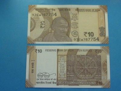Индия Банкнот 10 Rupees 2018 Заполнитель UNC Новинка!