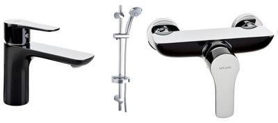 Vodovodné batérie súprava -  VALVEX DALI BLACK FARO sada sprchových umývadiel