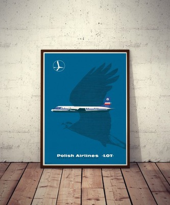 Плакат  Авиакомпании LOT Hibner 1961/2016