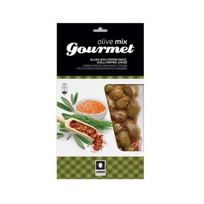 Оливки с сыром, зеленым луком, пастой pimiento 250г