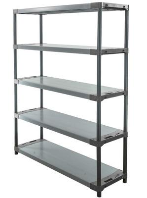 Regál - polica -  Skladovací stojan ako kovový Titanium-5 180x150x46