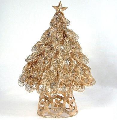 Vianočný stromček - ___STROMČEK drôt / glitter ____36 cm __krásne