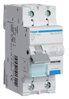 HAGER krótkozwłoczny Prepínač 1P+N 16A ADH966