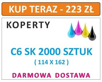 KOPERTY C6 SK 2000 SZT Z NADRUKIEM I INNE DL C5 C4