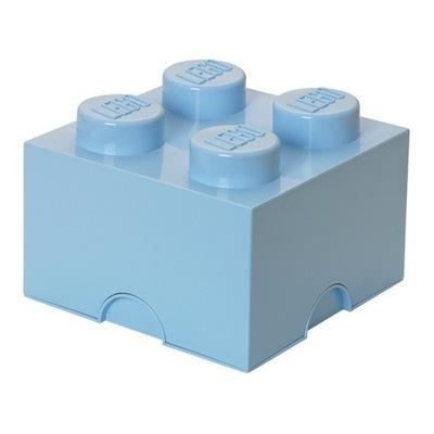 LEGO POJEMNIK PUDEŁKO KLOCEK 4 BŁĘKITNY 25 cm