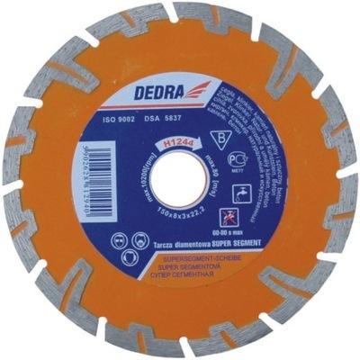 Rezací kotúč - DEDRA DIAM DISC. SUPER TURBO 125 mm / 22,2 mm H1243