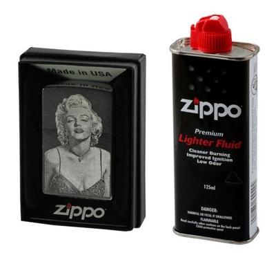 комплект ZIPPO 200 МАТОВЫЙ + бензин + ВАШ гравер