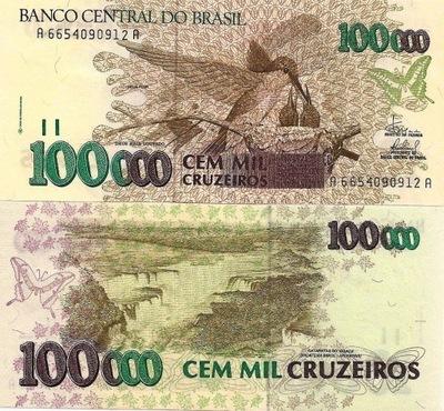 # БРАЗИЛИЯ - 100000 CRUZEIROS -1993 - P-235d - UNC