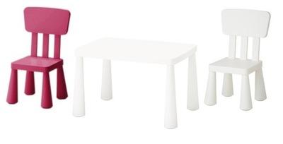 Икеа комплект МАММУТ 2 x стульчик + столик ЦВЕТА